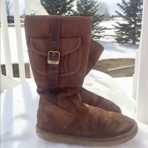 UGG AUSTRALIA Tall Suede Retro Cargo Pocket Boot 9